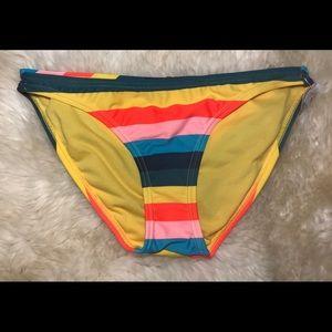 ✨3/$15 Xhilaration Bikini Bottoms Colorful Striped